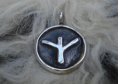 Algiz in Silber