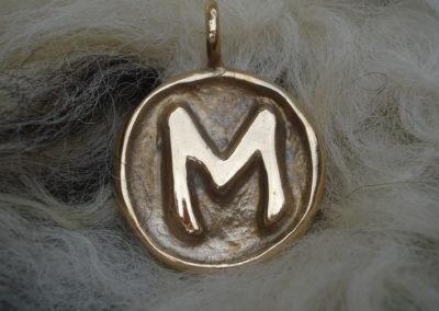 Ehwaz in Bronze