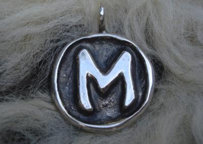 Ehwaz in Silber