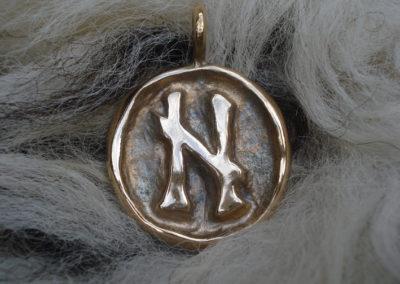 Hagalaz in Bronze