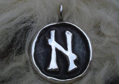 Hagalaz in Silber