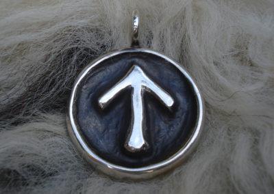 Tiwaz in Silber